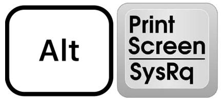 keyboard alt print screen