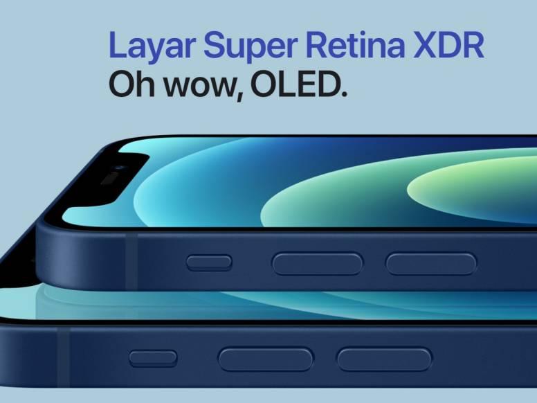 iPhone 12 Mini Layar OLED