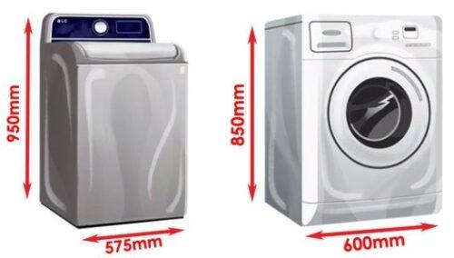ukuran mesin cuci top