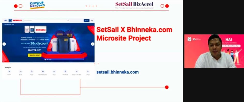 setsail bhinneka president university